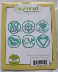 wykrojnik Taylored expressions - valentine treat toppers