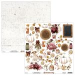 papier scrapbook Mintay Papers - fall festival- arkusz z elementami