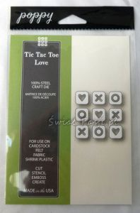 wykrojnik Poppy Stamps - tic tac toe love [1374]