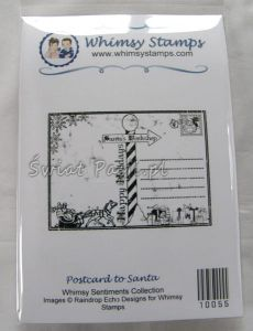 stempel gumowy Whimsy stamps - postard to santa