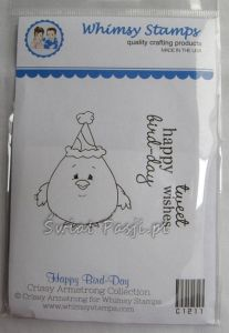 stempel gumowy Crissy Armstrong Collection - happy bird-day