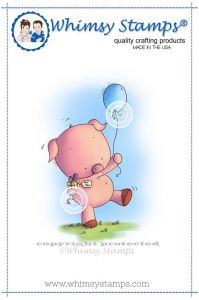 stempel gumowy Lee Holland Collection - piggy birthday party