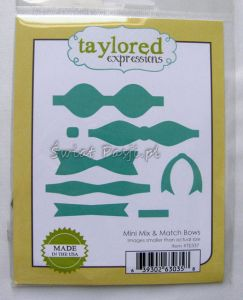wykrojnik Taylored expressions - mini mix & match bows [TE337]