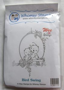 stempel gumowy Wee stamps - bird swing