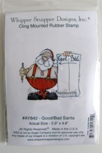 stempel gumowy WSD - Good / Bad Santa [AY842]
