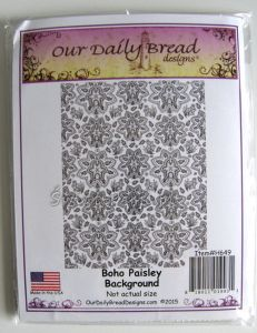 stempel gumowy Our Daily Bread - boho paisley background [G649]
