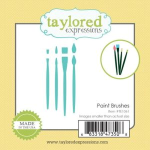 wykrojnik Taylored expressions - paint brushes