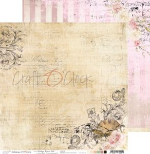 papier scrapbook Craft o'clock - vintage bisou 06