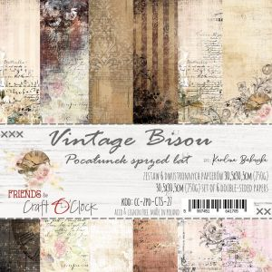 "papier scrapbook Craft o'clock - vintage bisou [zestaw 12"" x 12""]"