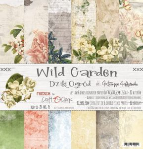 "papier scrapbook Craft o'clock - wild garden [zestaw 12"" x 12""]"