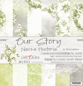 "papier scrapbook Craft o'clock - our story [zestaw 12"" x 12""]"