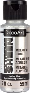 farba metaliczna DecoArt Extreme Sheen - srebrny (sterling silver) 59ml [DPM07]