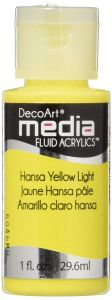 farba fluid acrylics (płynny pigment akrylowy) DecoArts - hansa yellow light 59 ml [DMFA16]