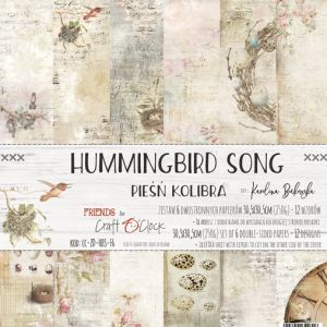 "papier scrapbook Craft o'clock - hummingbird song [zestaw 12"" x 12""]"