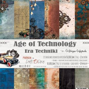 "papier scrapbook Craft o'clock - age of technology [zestaw 12"" x 12""]"