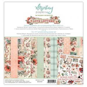 papier scrapbook Mintay Papers - love letters [bloczek/pad]