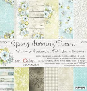 "papier scrapbook Craft o'clock - spring morning dreams [zestaw 12"" x 12""]"