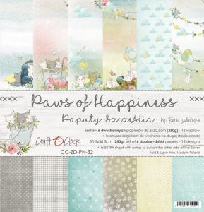 "papier scrapbook Craft o'clock - paws of happinness [zestaw 12"" x 12""]"
