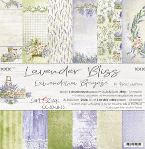 "papier scrapbook Craft o'clock - lavender bliss [zestaw 12"" x 12""]"