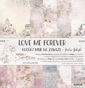 "papier scrapbook Craft o'clock - love me forever [zestaw 12"" x 12""]"