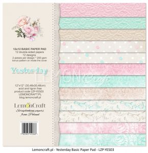 papier scrapbook LemonCraft - yesterday - basic [bloczek/pad]