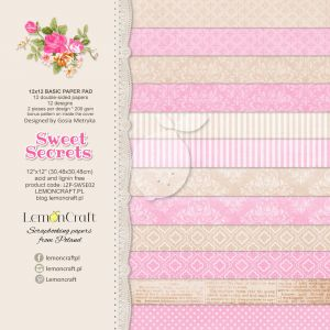 papier scrapbook LemonCraft - sweet secrets - basic [bloczek/pad]
