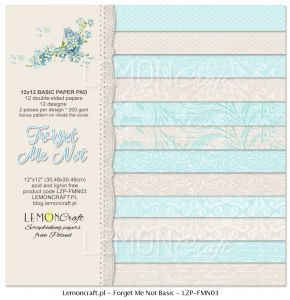 papier scrapbook LemonCraft - forget me not - basic [bloczek/pad]