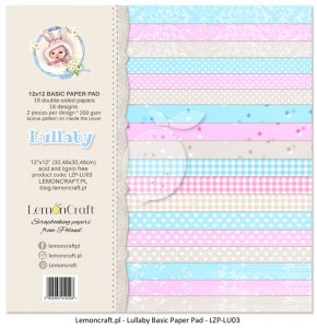 papier scrapbook LemonCraft - lullaby - basic [bloczek/pad]