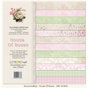 papier scrapbook LemonCraft - house of roses - basic [bloczek/pad]
