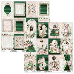 papier scrapbook Mintay Papers - lady 06