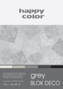blok Happy Color deco grey A4