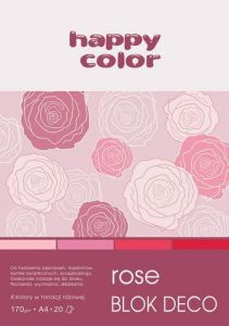 blok Happy Color deco rose A4
