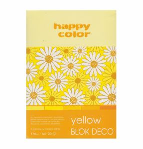 blok Happy Color deco yellow A4