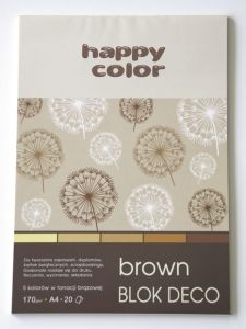 blok Happy Color deco brown A4
