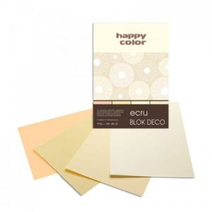 blok Happy Color deco ecru A4
