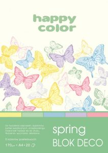 blok Happy Color deco spring A4