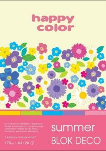 blok Happy Color deco summer A4