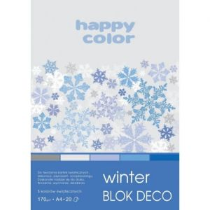 blok Happy Color deco winter A4