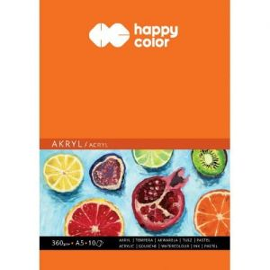 blok do akryli 360g Happy Color A5