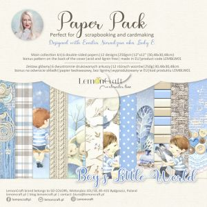 papier scrapbook LemonCraft - boy's little world [bloczek/pad]