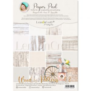papier scrapbook LemonCraft - wood patterns 02 [bloczek/pad]