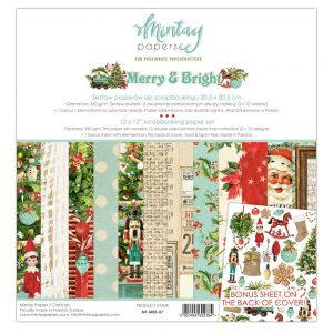 papier scrapbook Mintay Papers- merry & bright [zestaw]