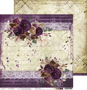 papier scrapbook Craft o'clock - plum in chocolate 01