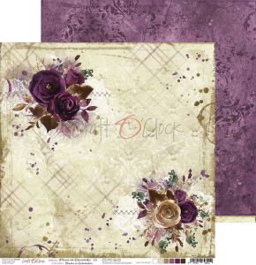 papier scrapbook Craft o'clock - plum in chocolate 03
