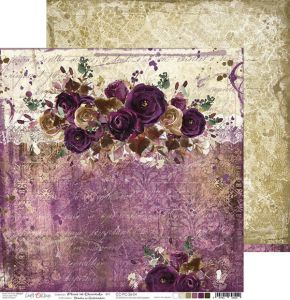 papier scrapbook Craft o'clock - plum in chocolate 04