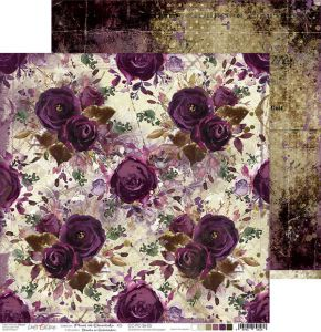 papier scrapbook Craft o'clock - plum in chocolate 05