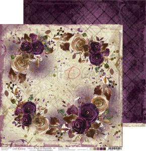 papier scrapbook Craft o'clock - plum in chocolate 06