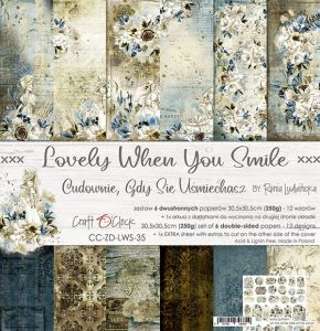 "papier scrapbook Craft o'clock - lovely when you smile [zestaw 12"" x 12""]"