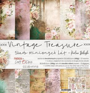 "papier scrapbook Craft o'clock - vintage treasure [zestaw 12"" x 12""]"