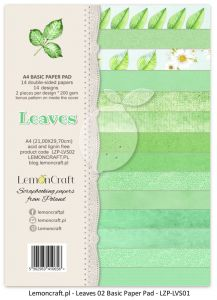 papier scrapbook LemonCraft - leaves 02 [bloczek/pad]